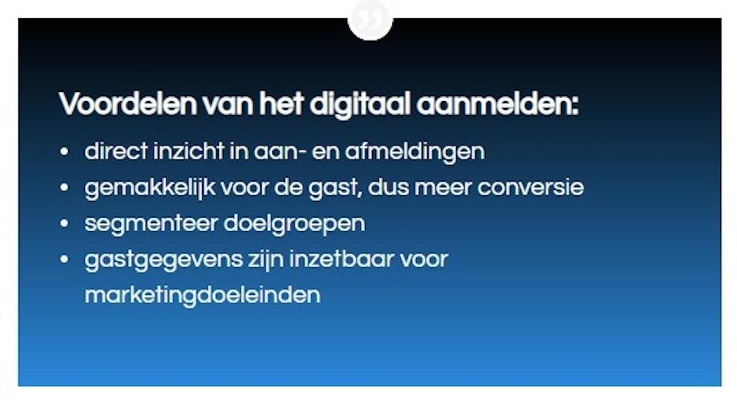 Voordelen digitaal aanmelden