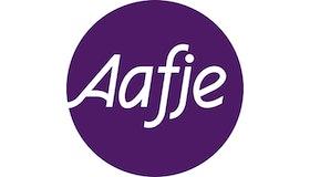 Aafje logo paars CMYK