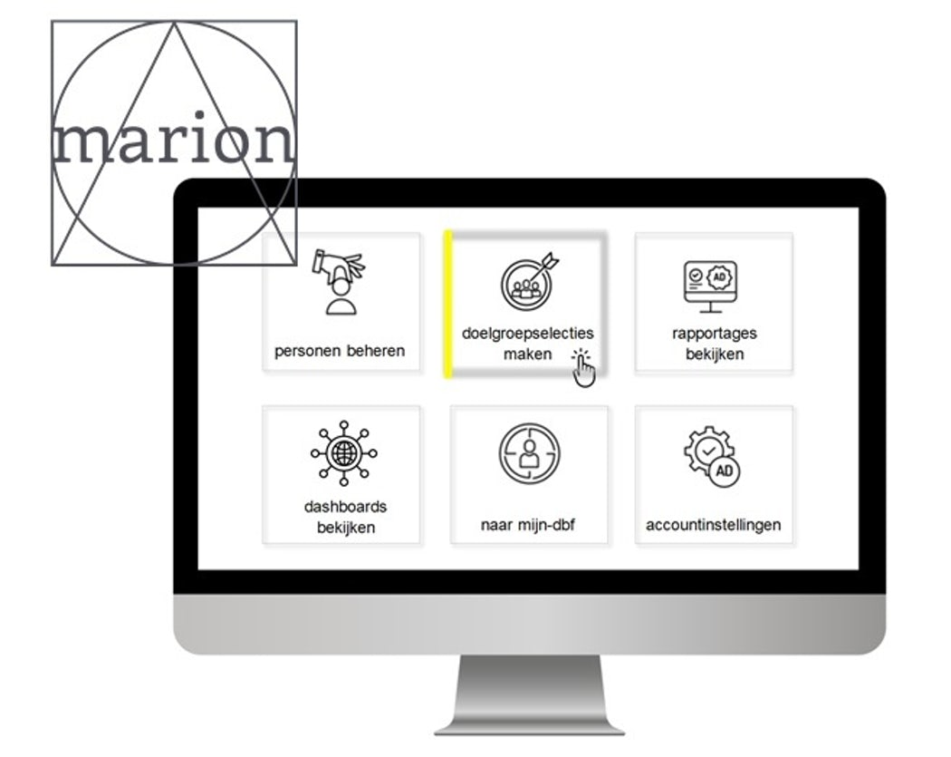 Beginscherm van Customer Data Platform Marion