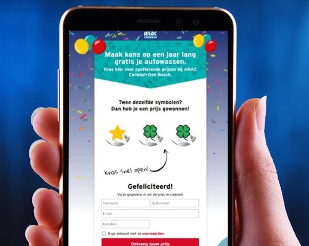 Online digitale kraskaart dbf loyalty marketing krassen